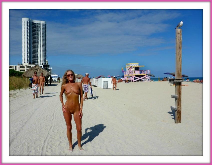 Голый пляж в майами